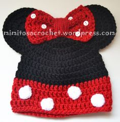 Hola a tod@s!! Os quiero enseñar una de las creaciones más graciosas que he realizdo: los gorritos de los dos personajes más populares de Disney: Mickey y Minnie Mouse. Son muy sencillos de realiza…