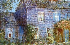 Hutchison House, Easthampton Artwork by Frederick Childe Hassam Hand-painted and Art Prints on canvas for sale,you can custom the size and frame