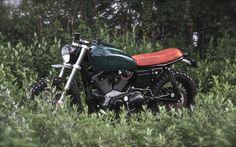 Nature and motorcycles, good combination. #HarleyDavidson Sportster 1200 #Scrambler H1 by VDB Moto. Toda una máquina para disfrutar de la naturaleza con mucho estilo | caferacerpasion.com