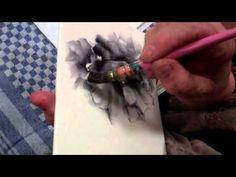 Impressionistic porcelain paint, black poppi, paint black, china paint, poppies, pintura porcelana, paintings, porcelain art, paint porcelain