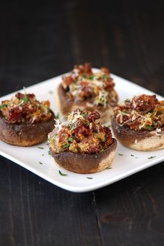 Prosciutto and Parmesan Stuffed Mushrooms ~~~ Taste: Savory, earthy, slightly salty, and just bursting with those Italian flavors you know and love. Texture: The mushrooms become tender but meaty while the filling is chunky and cheesy. Ease: Very easy.