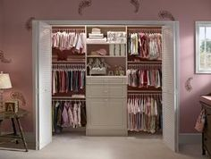 I want to build something like this.  Right now my kids' closets have a lot of wasted space. I like three rows for each kid. It would save space in a shared room to move the dresser to the closet.