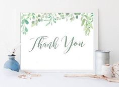 Thank You Card, Thank you sign, Wedding Signs, Wedding Reception Signs, Printable Sign, Instant Download