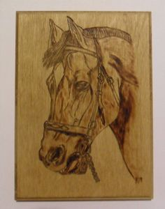 Horse Picture Woodburning Pyrography by DuncanCreek ...LOVE