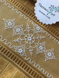 Handmade Indian embroidered washcloth at Blackwork Cross Stitch, Cross Stitch Borders, Cross Stitch Designs, Cross Stitching, Cross Stitch Patterns, Blackwork Patterns, Embroidery Patterns Free, Hand Embroidery Designs, Kasuti Embroidery