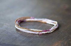 Bracelet Perles Wrap bijoux perles graines par MoonLabJewelry