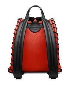 Acne Studios Rope jungle red Small backpack