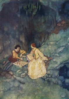Miranda: Sweet lord, you play me false - Shakespear's Comedy of The Tempest, 1908
