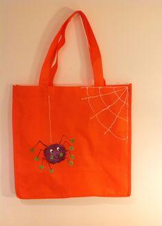 Hand Painted Halloween Bags by MaidenLongIsland on Etsy