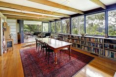 Robin Boyd, The Wright House Window line, book shelves under
