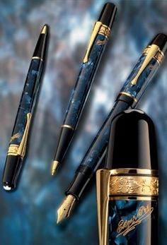 Montblanc - Limited Editions - Writers Edition - My favorite Mont Blanc Fountain Pen, Fountain Pen Ink, Expensive Pens, Luxury Pens, Fine Pens, Pen Collection, Stationery Pens, Custom Pens, Best Pens