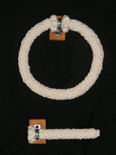 Nautical Knotted Matching Towel Ring and by NauticalKnotwork, £30.00