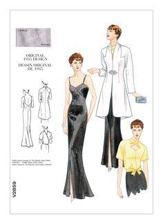 Vogue Misses' Jacket Blouse & Dress Vogue Sewing Patterns, Mccalls Patterns, Vintage Sewing Patterns, Fashion Patterns, Wrap Blouse, Blouse Dress, Jacket Dress, Vogue Vintage, Couture Sewing