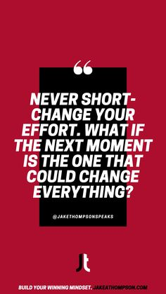 Don't waste this opportunity because you chose a short-term perspective & gave a poor effort. Give your best in this moment, because what if it's the one that changed everything? Leadership Games, Motivational Quotes, Inspirational Quotes, Silly Questions, Good Employee, Slow Burn, To Strive, Mindfulness Quotes, Growth Mindset