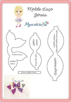 Laço sereia com molde para imprimir - Como Fazer The Effective Pictures We Offer You About DIY Hair Accessories wood A quality picture can tell you many things. You can find the most beautiful picture Handmade Hair Bows, Diy Hair Bows, Diy Bow, How To Make Hair, How To Make Bows, Christmas Hair Bows, Diy Christmas, Homemade Christmas, Christmas Stockings