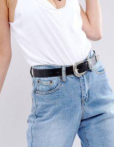 Elastic Lace Up Side Corset Belt - Black Asos NDe3TE