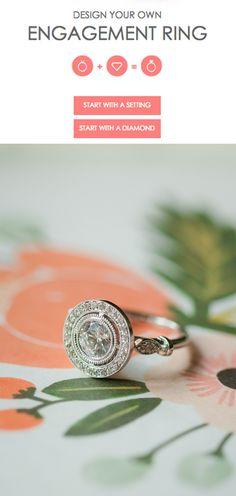 Halo diamond engagement ring @JamesAllenRings