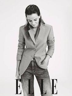 Emma Watson Elle, Ema Watson, Cheap Toms Shoes, Tom S, Feminism, Suit Jacket, Blazer, Suits, Shoes Style