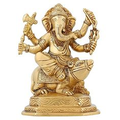 Hinduism Spirituality Lord Ganesha Statue Brass Indian Temple For Home 6 inch ShalinIndia http://www.amazon.in/dp/B010M3KT78/ref=cm_sw_r_pi_dp_Phu7vb1CQEJW3