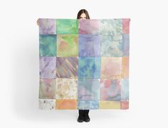 Watercolor Background Scarf by Ailan Olsen