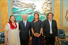 Foro Hispanico de Opiniones sobre la Realeza: La princesa Carolina visita la Galeria Adriano Ribolzi en Monaco