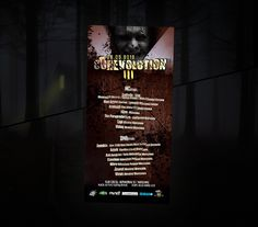 Flyer promoting a series of events in Warsaw - Corevolution (third edition). Two stages with HardCore and Drum and Bass music. Leaflet was done in a style that refers to the nature of the event - the darkness ...