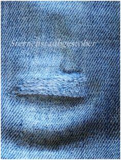 tutorial kaputte jeans flicken jeans flicken flicken. Black Bedroom Furniture Sets. Home Design Ideas