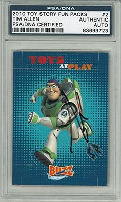 Tim Allen Signed Toy Story Authentic Card Slabbed PSA/DNA #83699723 @ niftywarehouse.com
