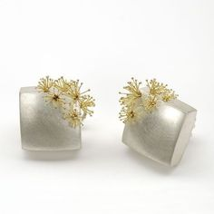 Sweet earrings beautifully crafted by Susanne Elstner perfect for spring…