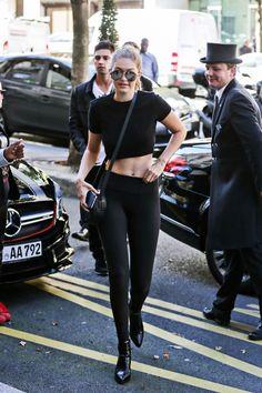 September 28, 2015 - Gigi Hadid at Royal Monceau Hotel in Paris