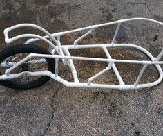 DIY PVC Pipe Bicycle Trailer (Single Wheel)