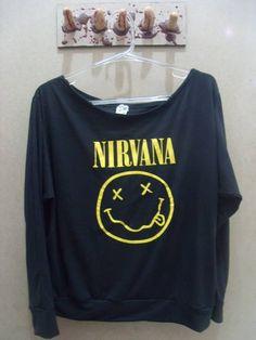 Blusa Gola Canoa Nirvana Tamanho único R$ 60,00  www.elo7.com.br/dixiearte
