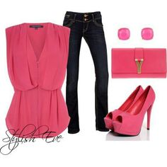 Hot pink & pretty #outfits #pink