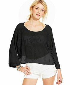 Free People Pandora Embroidered Top
