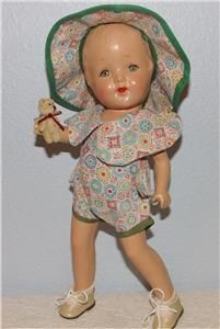 """Vintage 1930'S 12"""" Patsy Type Composition Doll With Sleep Eyes SO Cute 