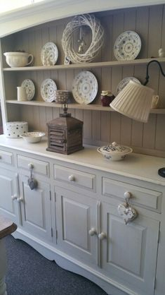 White Kitchen Dresser solid pine shabby chic french farmhouse country style welsh