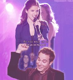 Beca and Jesse are my favourite Pitch Perfect couple. I think they are really cute and adorable together! Tv Quotes, Movie Quotes, Lyric Quotes, Qoutes, Lyrics, Jurassic World, Love Movie, Movie Tv, Pitch Perfect 1