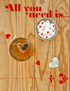 valentine's day tea bags