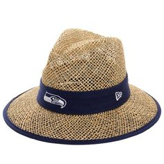 Seattle Seahawks New Era On-Field Training Camp Straw Hat - Natural
