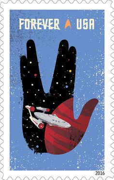 The United States Postal Service is joining in the Star Trek Anniversary celebrations with a series of commemorative stamps! Designed by Heads of State under the art direction of Antonio Alcal… Star Trek Beyond, New Star Trek, Star Trek Tos, Star Wars, Postage Stamp Design, Postage Stamps, Uss Enterprise, Geeks, Akira