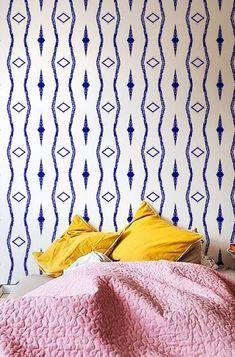 Boho print removable wallpaper | Etsy