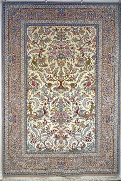 Isfahan Kaf Abrisham Silk Persian Rug | Exclusive collection of rugs and tableau rugs - Treasure Gallery