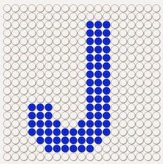 kralenplank letter J