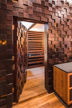 Luxury residential designers and Luxury Interior Designers -SHH Architects specialists in commercial design, residential design and hospitality design Wood Wall Design, Wood Wall Decor, Door Design, House Design, Cool Woodworking Projects, Woodworking Wood, John Wood, Hidden Rooms, Wood Plans