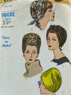 Vintage 60s Vogue Pattern 6121 Bandeau Style by VintageNeedleFinds,