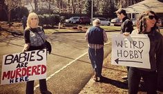 pro-choice signs | Pro-Choice Couple Trolled Anti-Abortionists With Some Clever Signs ...
