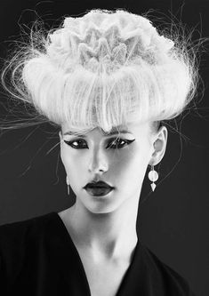 www.esteticamagazine.com    Credits Hairstylist: Sharon Blain Photo: Andrew O'Toole Stylist: Emily Sue Yee Makeup: Rachel Montgomery Creative Designer: Kr Creative Product: Goldwell Hairpieces: Headlines Hairpieces