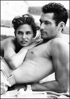 enggirl:  David Gandy and Bianca Balti for Dolce & Gabbana Light Blue fragrance. Capri, by Mario Testino. Behind the scenes