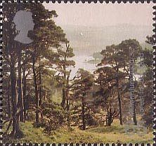 British Stamp 2000 - 65p, Forest, Doire Dach ('Forest for Scotland') from Millennium Projects (8th Series). 'Tree and Leaf' (2000)