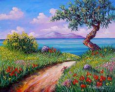 paesaggi, quadri, olio su tela, vendita dipinti, pittori italiani, cammarata, Arteindiretta Dipinti su commissione